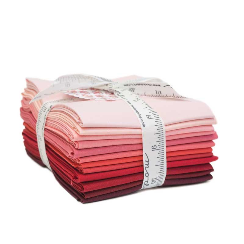 Bella Solids 12 Gradient Red Fat Quarters designed by Moda Fabrics