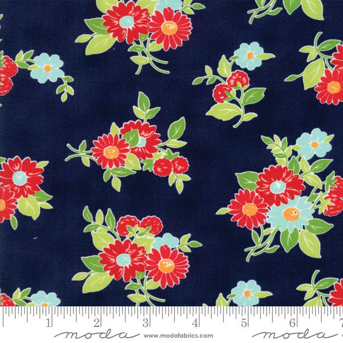 The Good Life Navy Floral Summer Dark Blue 55151 16