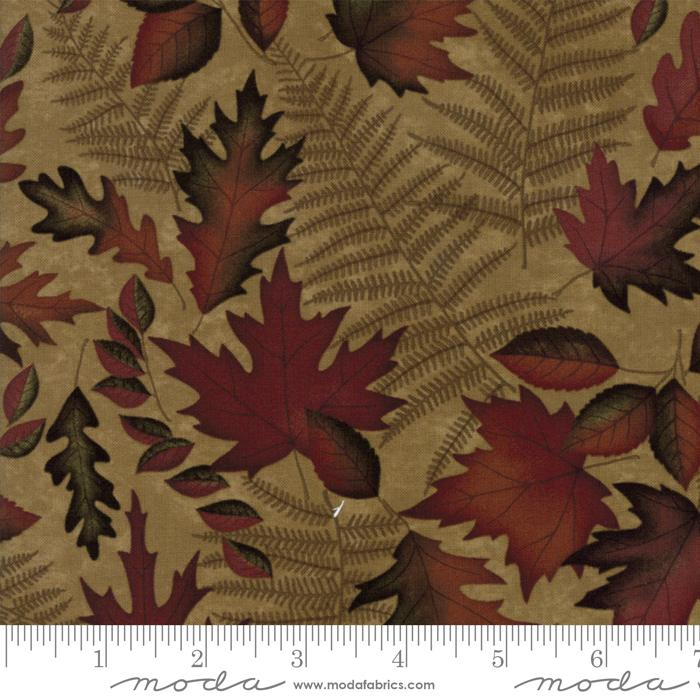 AUTUMN REFLECTIONS HOLLY TAYLOR ANTIQUE GOLD W/ LEAVES AND FERNS 6711-13
