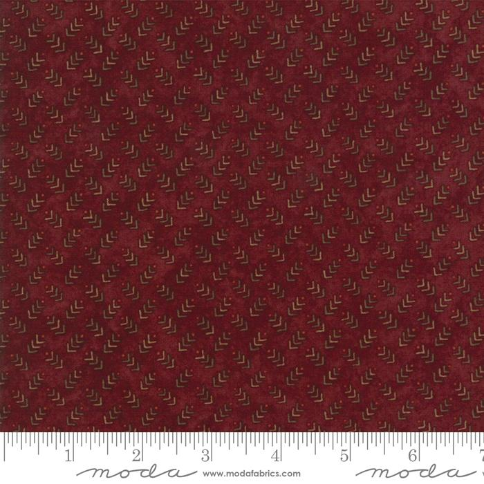 AUTUMN REFLECTIONS HOLLY TAYLOR BURGUNDY WITH SMALL PRINT 6715-17