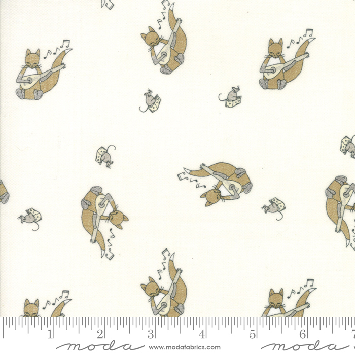 Hushabye Hollow Cloud Squirrel and Mouse on Cream Background