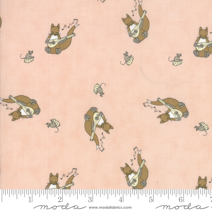 Hushabye Hollow Sweet Cheeks Squirrels on Peach Background