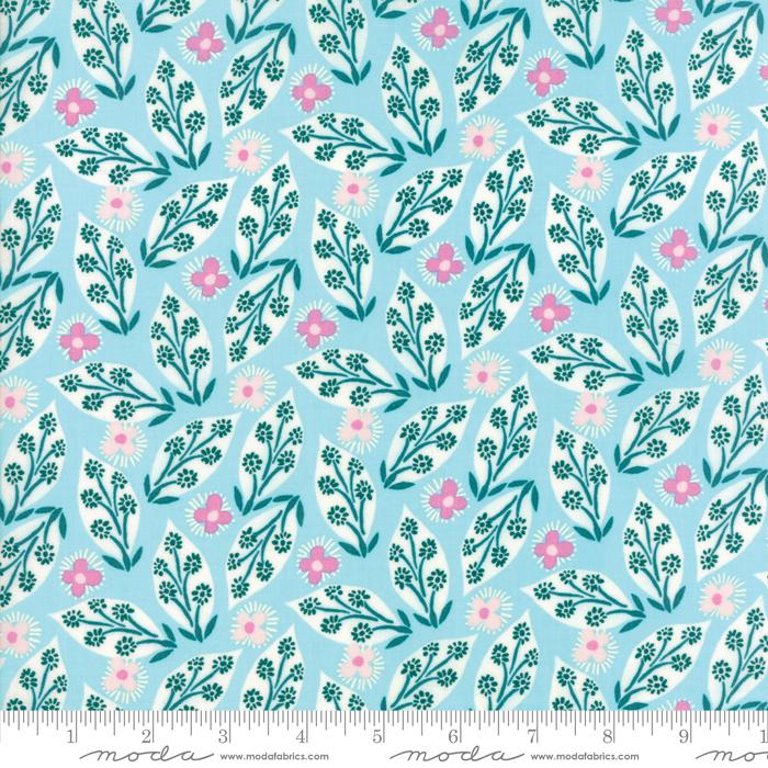 Item#10654.C - Voyage Jambi Turquoise - Moda - Kate Spain - Bolt#10654.C