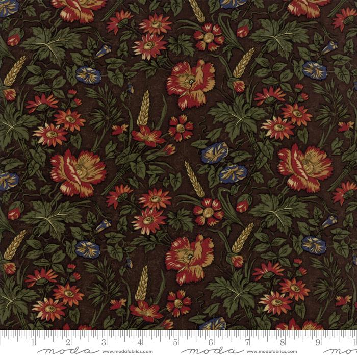 Kansas Trouble Harvest Hill - Brown Large Floral