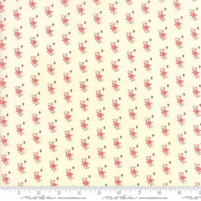Item#10476.S - Hazel & Plum (Cream & Pomegranate)  - Moda - Fig Tree Quilts - Bolt# 10476.S