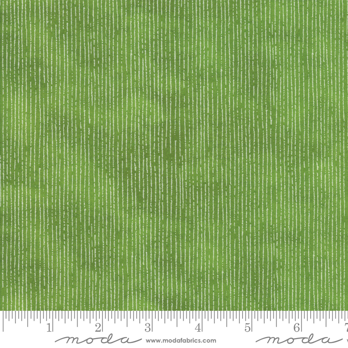BLUSHING PEONIES GREEN WITH LINES 48615-16
