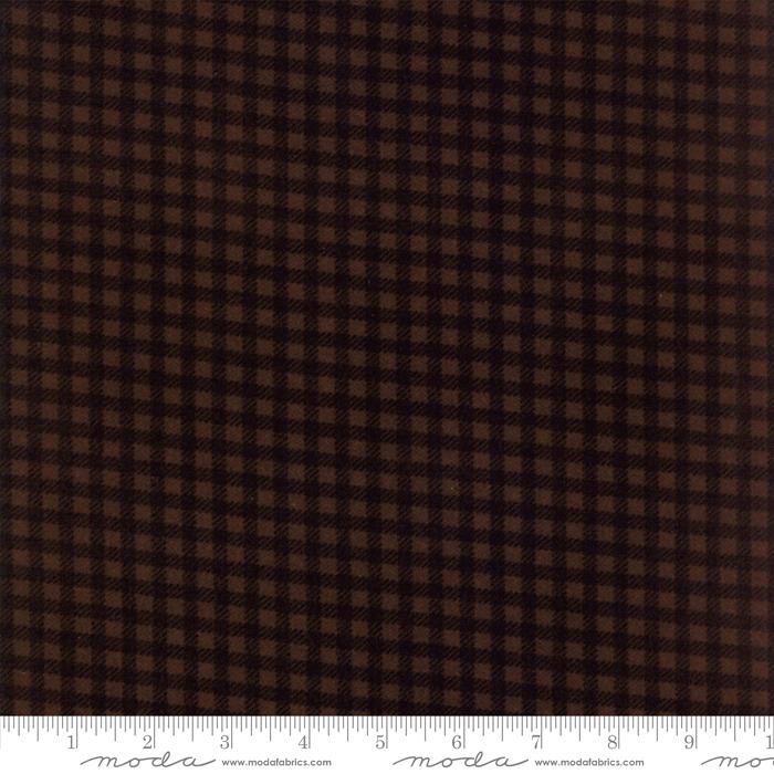 MODA- Wool Needle V Flannels Bark
