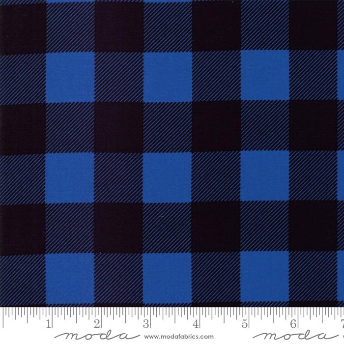 Moda Buffalo Check Black Blue 8656-16