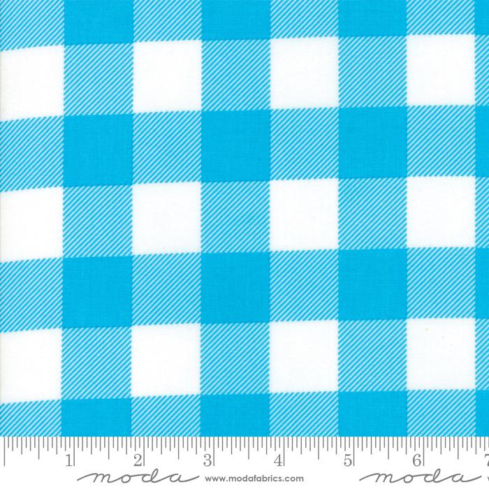 Buffalo Check Turquoise Fabric by Moda