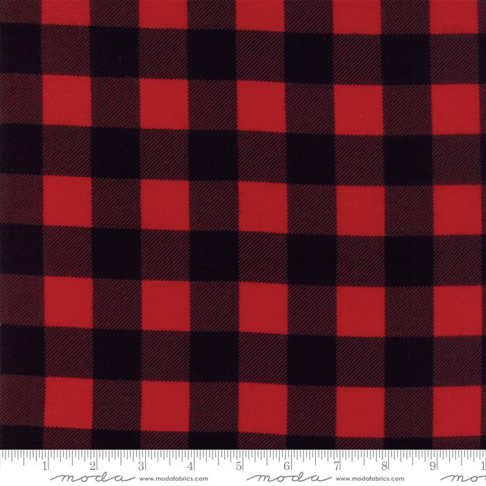 Moda Basics - Buffalo Check Black Red - 8656 12F Flannel