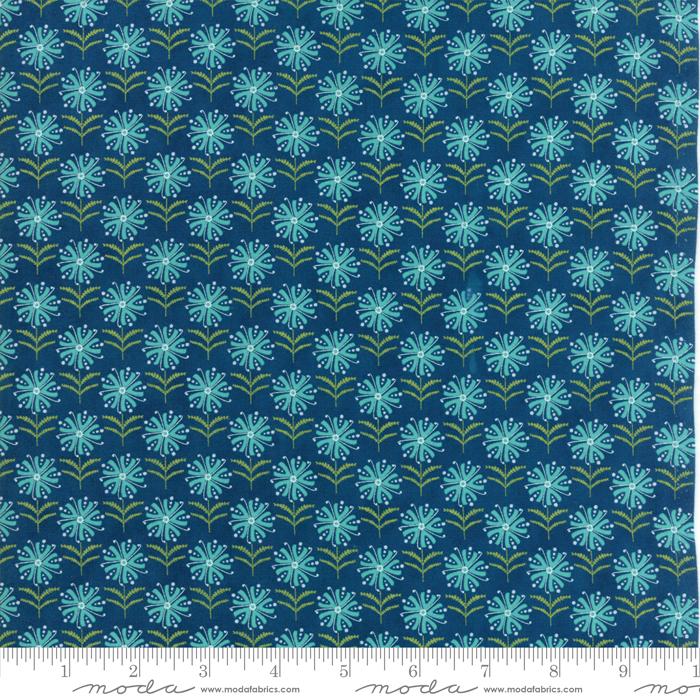 Item#11036.V - Well Said Prussian Blue - Moda - Sandy Gervais - Bolt#11036.V