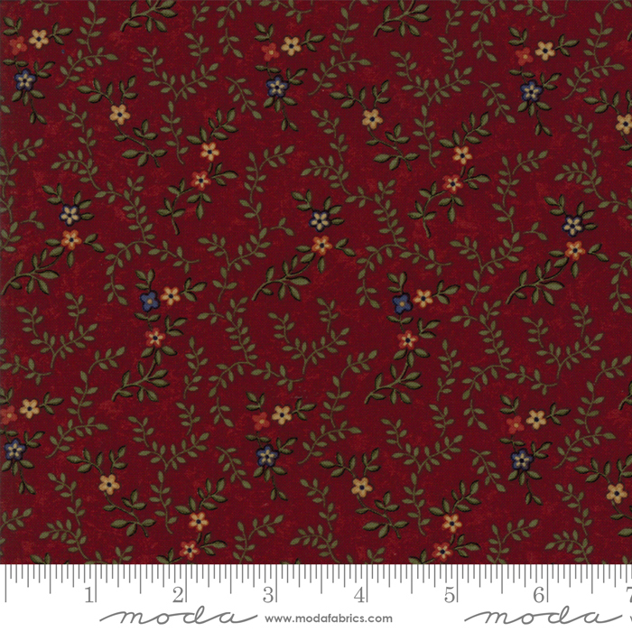 RED W/ SMALL FLOWERS 9562-13
