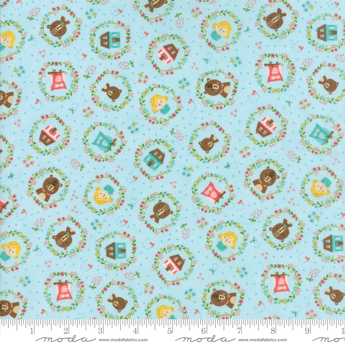 HOME SWEET HOME BLUE W/ GOLDILOCKS & BEARS 20573-16