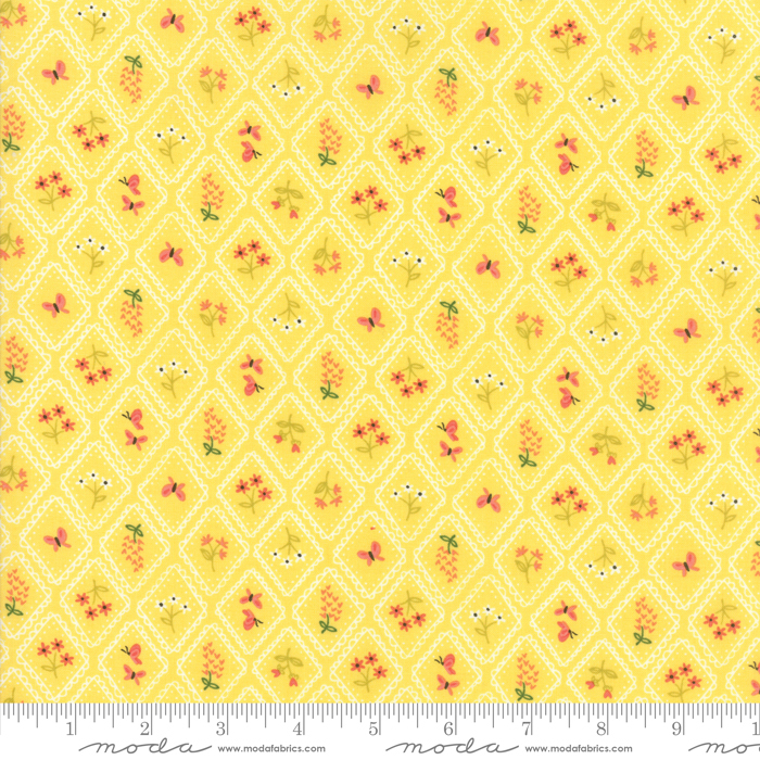 HOME SWEET HOME YELLOW SQUARES W/ FLOWERS 20576-18