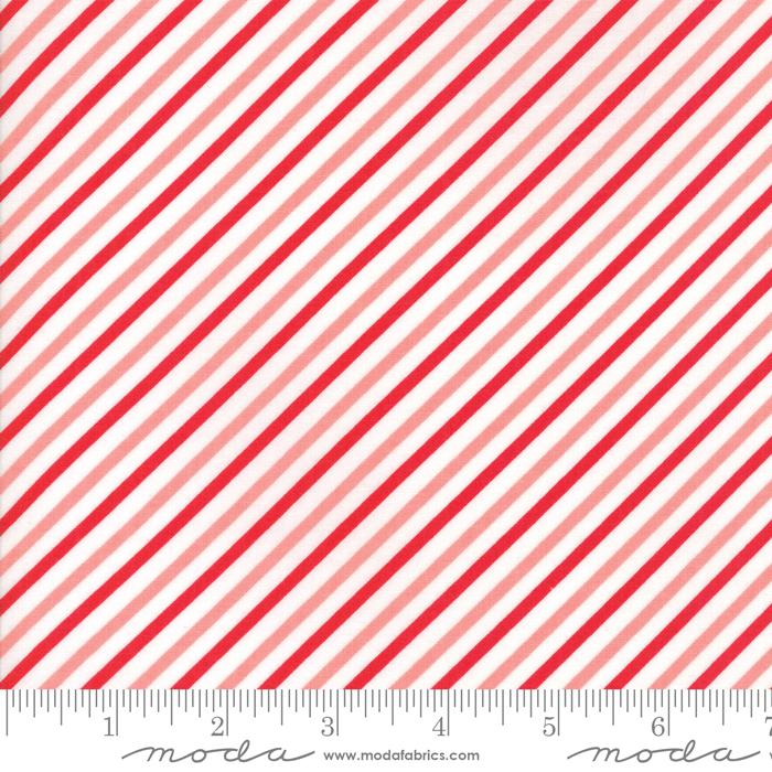 Vintage Holiday Pink Red Stripes