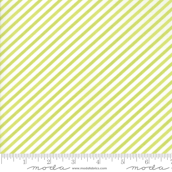 Bonnie & Camille - Vintage Holiday - Diagonal Stripes Green