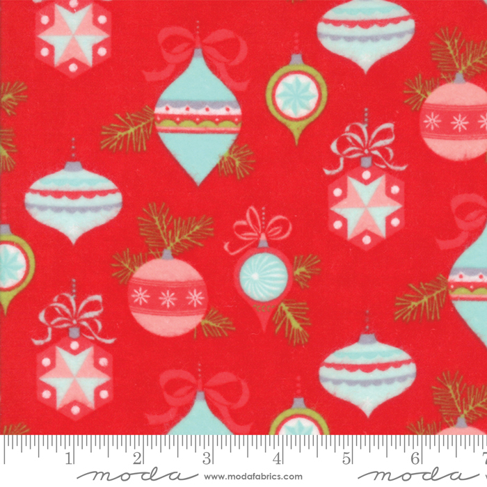 Bonnie & Camille - Vintage Holiday Flannel - Main Red