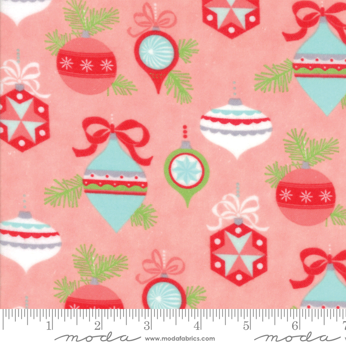 Bonnie & Camille - Vintage Holiday Flannel - Main Pink