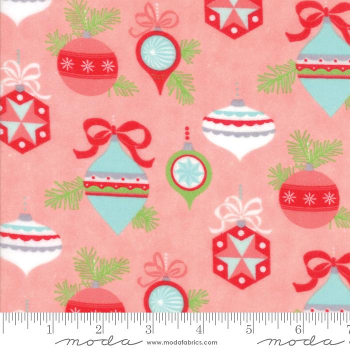 Vintage Holiday Pink Flannel