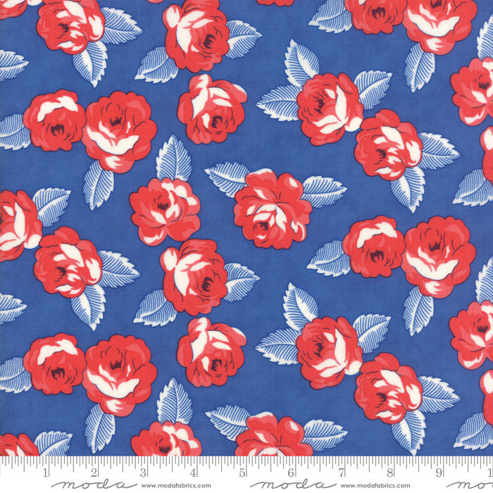 Item#11034.H - Feed Sacks True Blue Cornflower - Moda - Linzee Kull McCray - Bolt#11034.H
