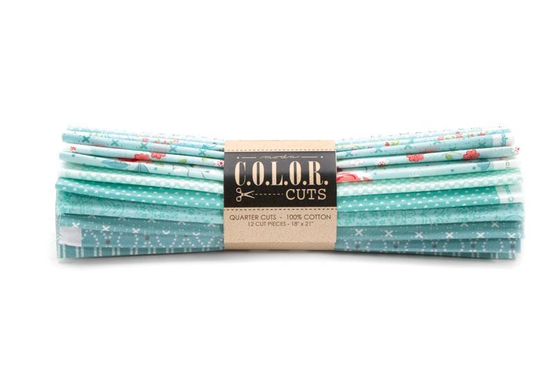 Color Cuts Beach Glass Fat Quarter Bundle (12 cuts) - Moda