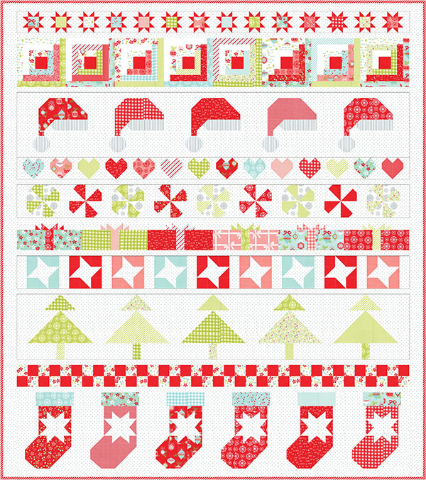 Vintage Holiday Christmas Kit - Bonnie and Camille -Moda