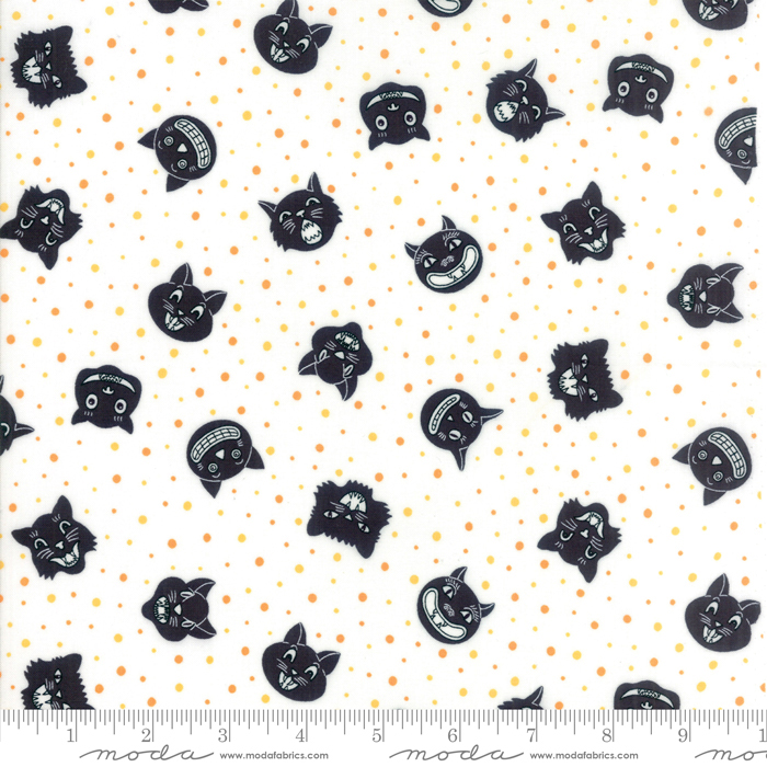 Dot Dot Boo White Black by Me and My Sister for Moda 22330 14+