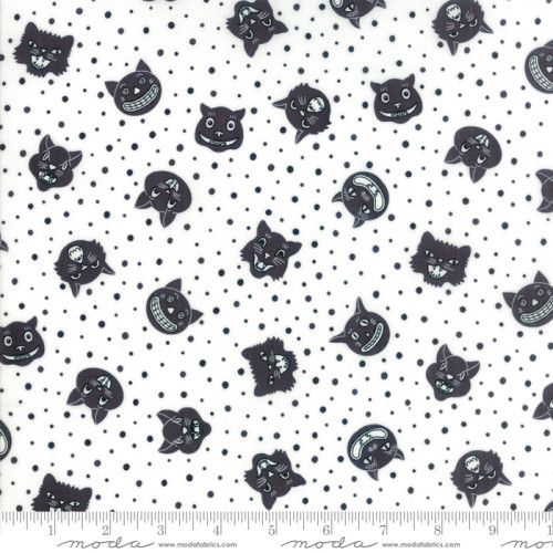 Dot Dot Boo Black by Me and My Sister for Moda 22330 24+