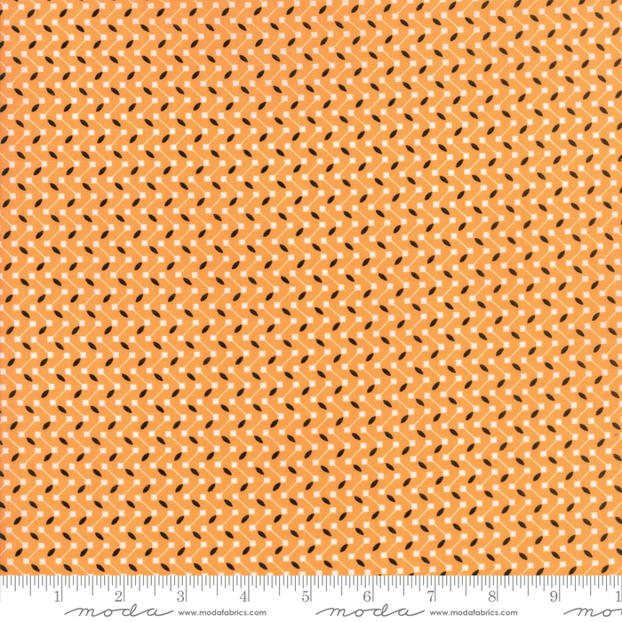 Dot Dot Boo Orange by Me and My Sister for Moda 22332 13+