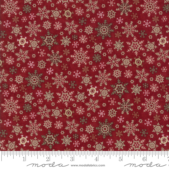 Once Upon A Memory Snow Flakes Crimson 6735-15