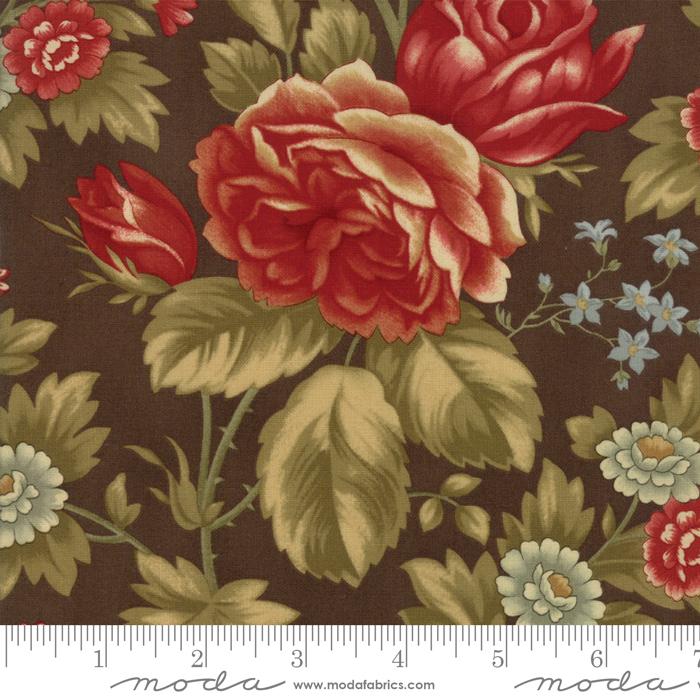 Moda - Rosewood-Floral Rose-Chocolate - 44180 13