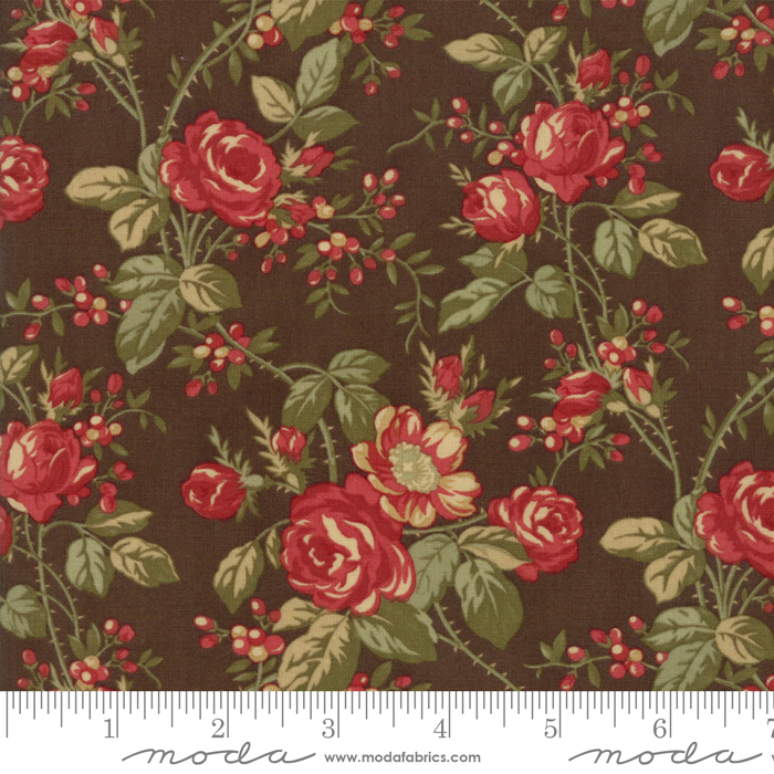 ROSEWOOD CHOCOLATE WITH LARGE FLOWERS 44181-13