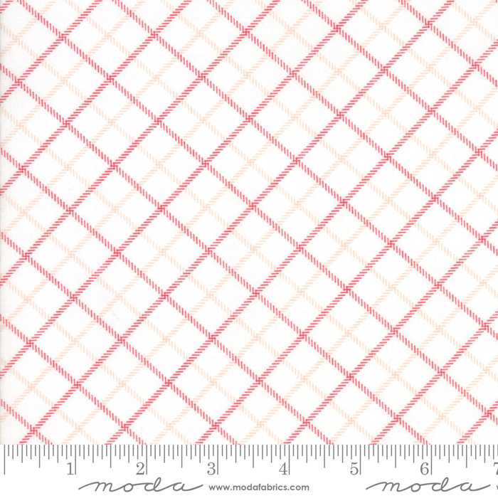 Smitten Bias Plaid Red by Bonnie & Camille for Moda