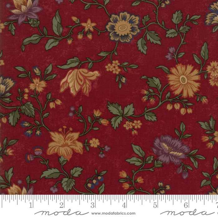 Moda Kansas Troubles Natures Glory Red (large floral toss)
