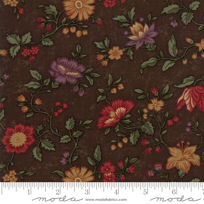 Moda Kansas Troubles Natures Glory Brown (large floral toss)