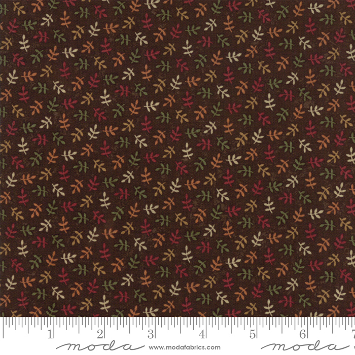 Moda Kansas Troubles Natures Glory Brown (Multi small branches/leaves)