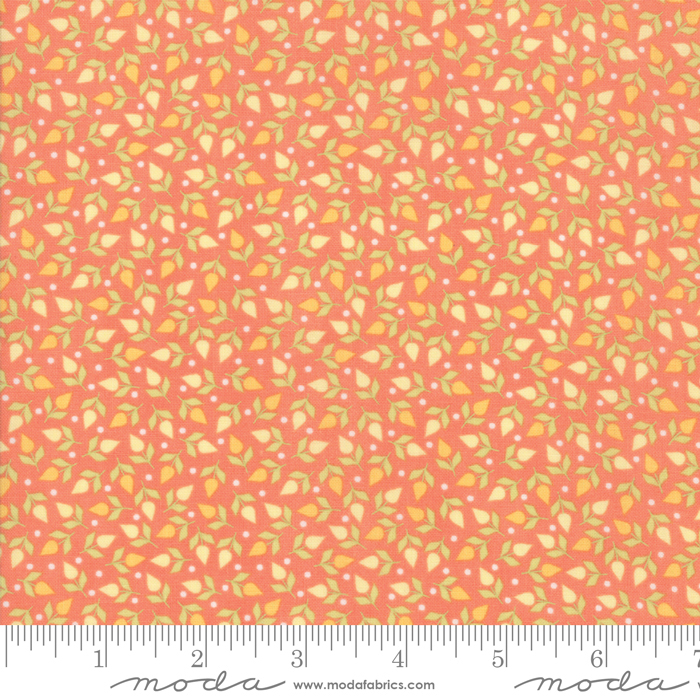 29055 15 Sunnyside Up Coral by Corey Yoder Little Miss Shabby for Moda Fabrics. 100% cotton 43 wide