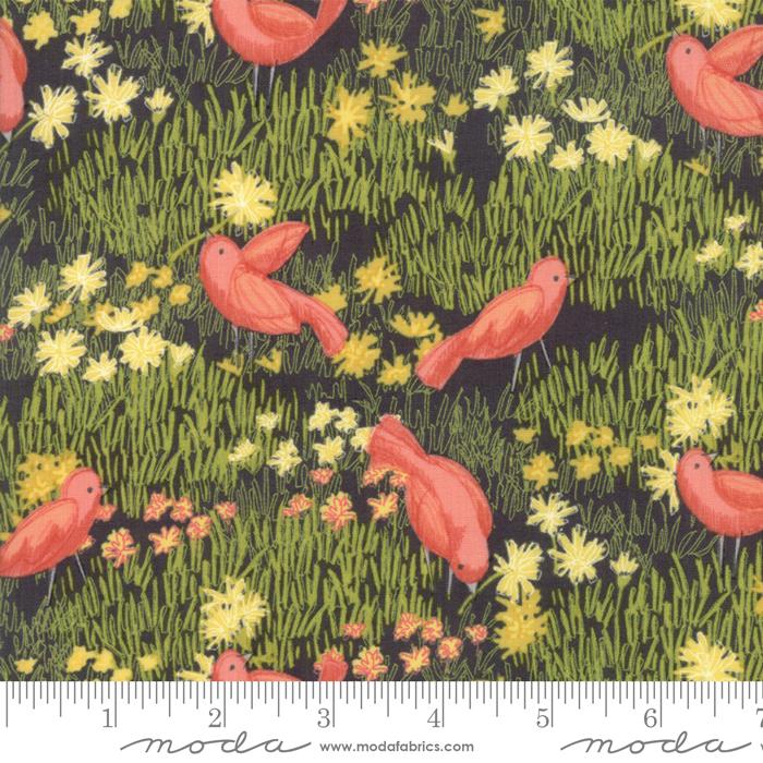Dandi Annie Charcoal Bird Print