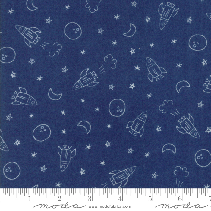 Soft & Sweet Flannel 20601-16F Navy