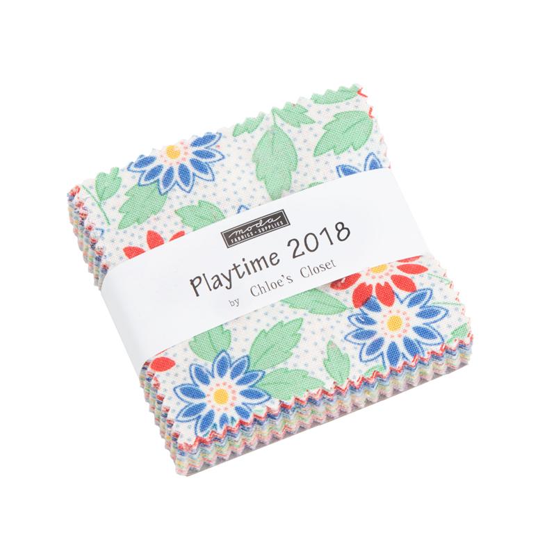 30s Playtime 2018 Mini Charm (42 pcs 2.5 sq) - Chloes Closet - Moda