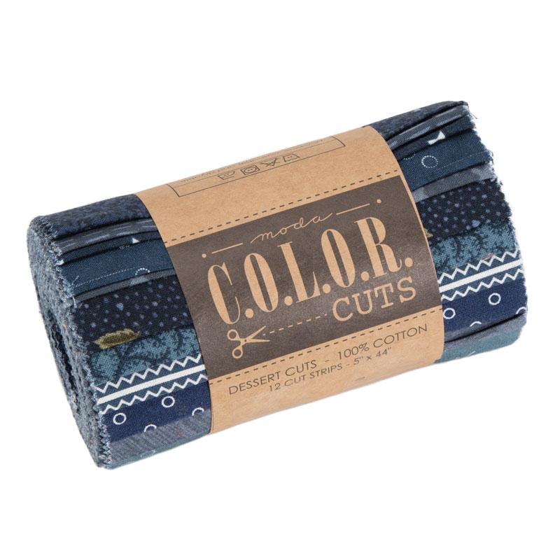 Color Cuts Dessert Roll Indigo
