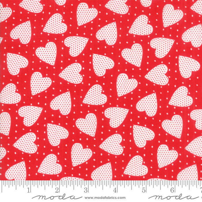 REDiculously In Love White hearts/dots