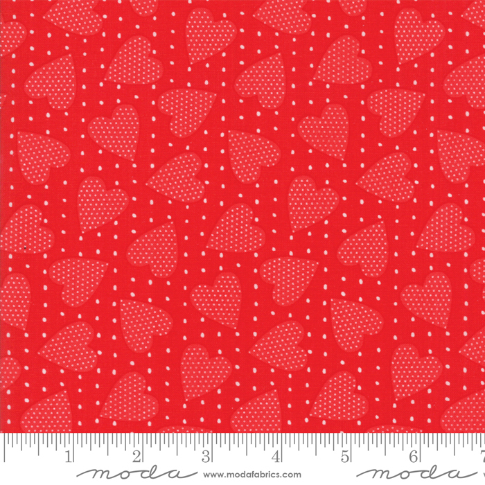 REDICULOUSLY IN LOVE RED WITH SPOTTED HEARTS 22366-21