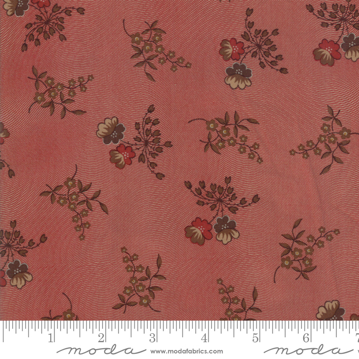 Fabric - Hickory Road Brick Red - 38060 18