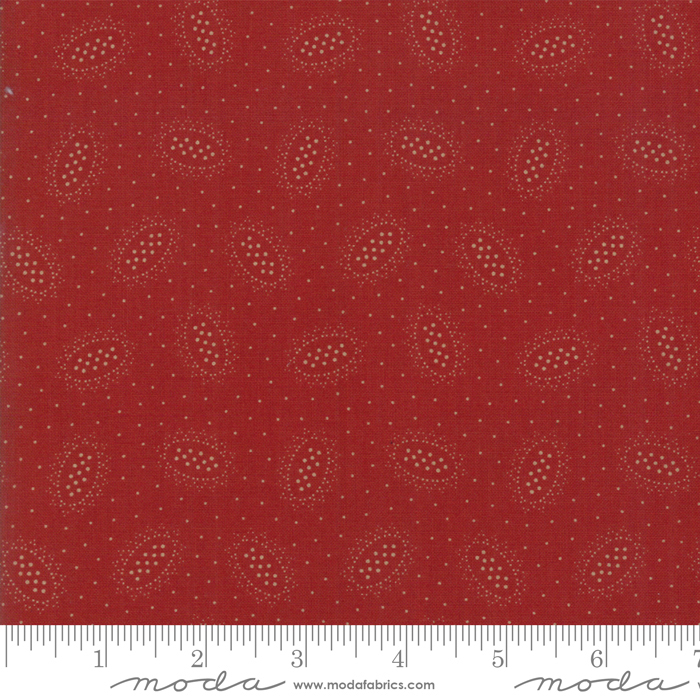 Fabric - Hickory Road Brick Red - 38063 18