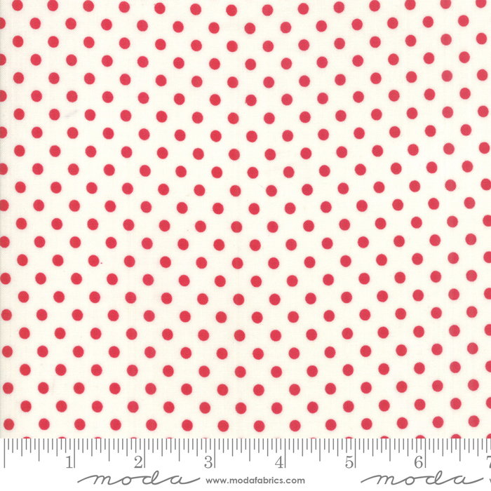 Little Snippets Red Cream Dots 55185-21