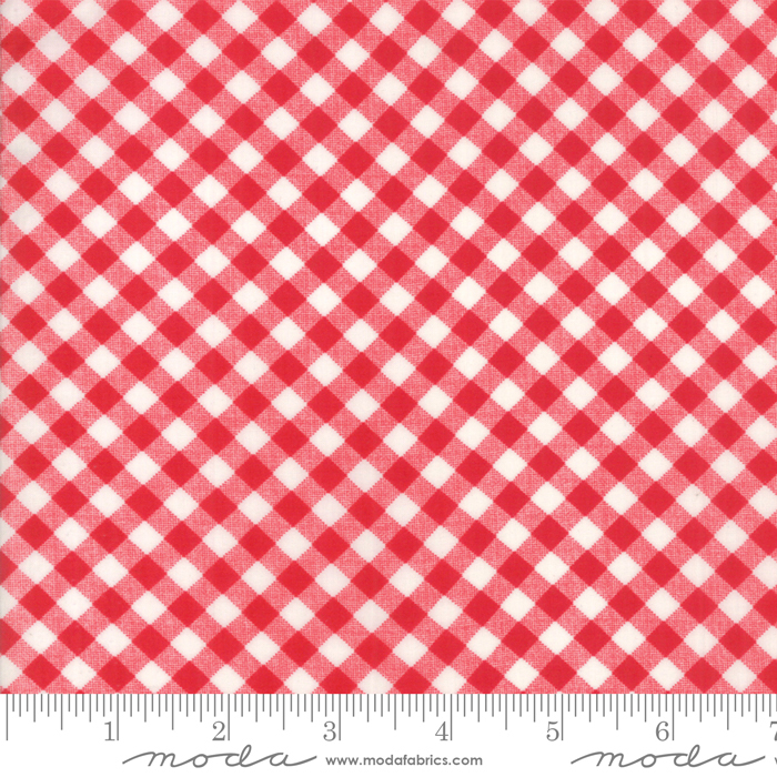 54 Little Snippets Gingham Lawns Red