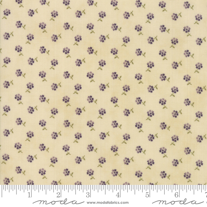 SWEET VIOLET IVORY WITH TINY PURPLE FLOWERS 2226-11