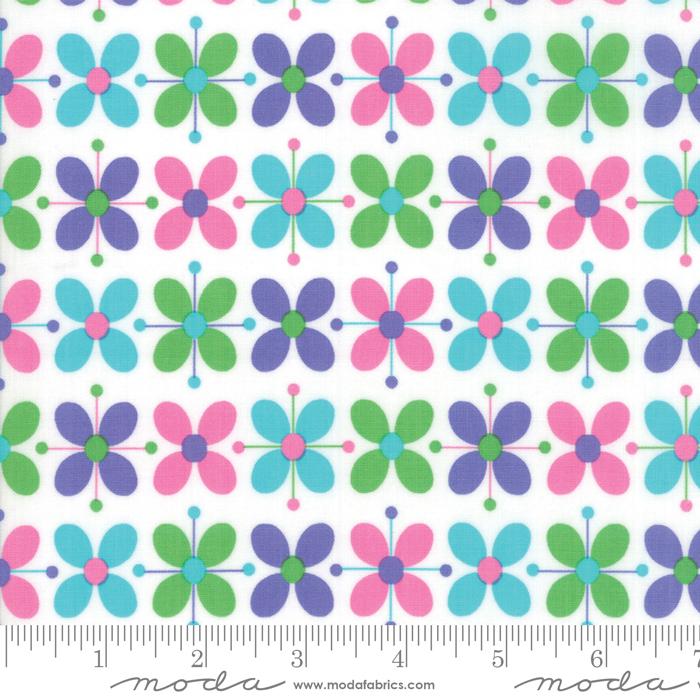FLOWER SACKS WHITE W/ PURPLE/PINK/GREEN FLOWERS 22352-15