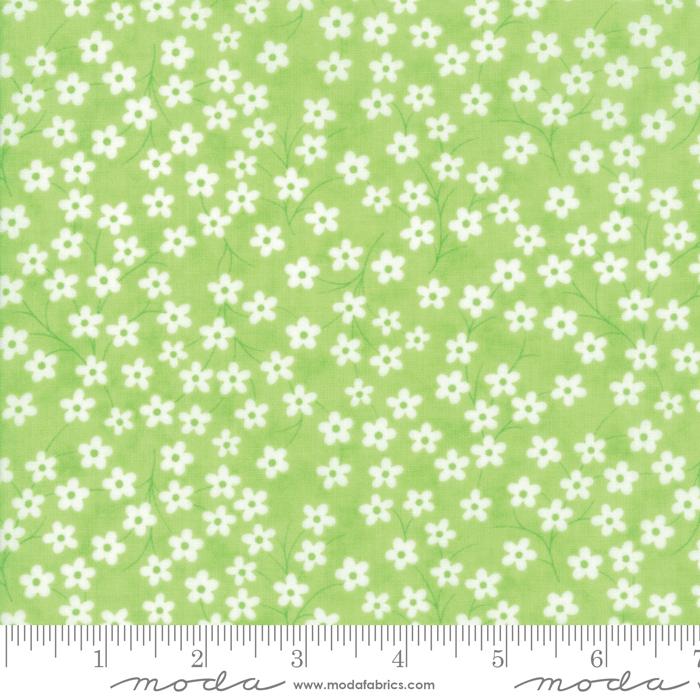 FLOWER SACKS BRIGHT GREEN W/ WHITE FLOWERS 22357-13